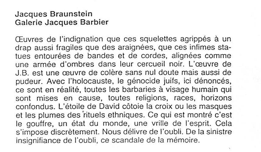 Revue de presse - Claude Bouyeure - Eté 1989 -Cimaise Magazine