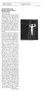 Revue de Presse - Pierre Gervasoni - Juin 1989 - Art press magazine